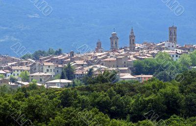 Castel del Piano (Tuscany) - Panoramic view