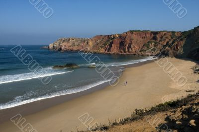 Beach on the Eastern Athlantic coast of Portugal