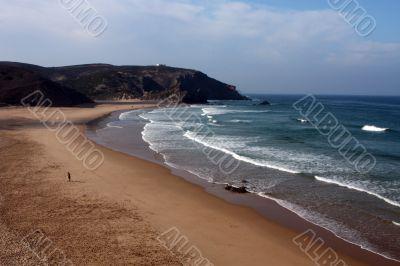Beach on the Eastern Athlantic coast of Portugal