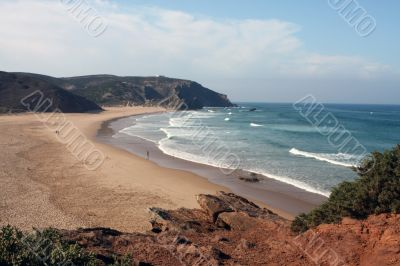 Beach on the Eastern Atlantic coast of Portugal