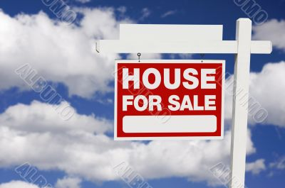 Home For Sale sign on Clouds