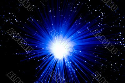 the blue optical fibres
