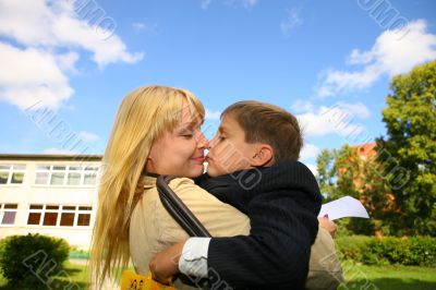 Mother and son - always love