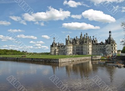 Majestic king castle Chambord in France