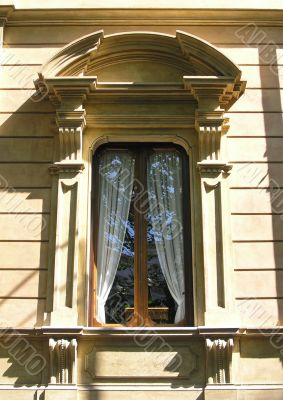 Classic italian window decoration