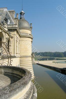 Water dike in Chateau de Chantilly