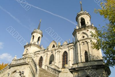 Orthodox church in baroque style in Russia