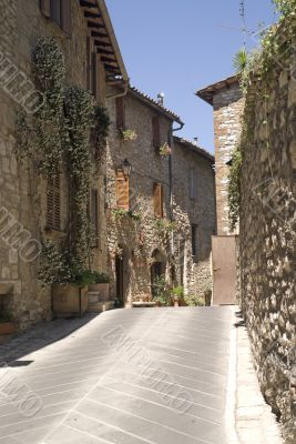Corciano - Typical street of the medieval village