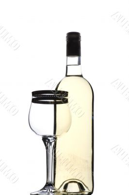 White wine glass and bocal