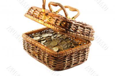 money in a casket