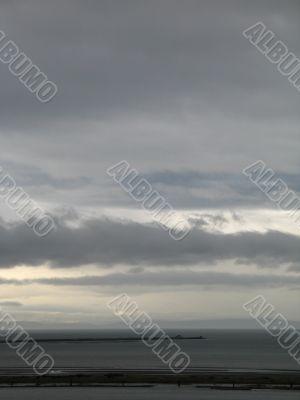 dark stormy ocean view
