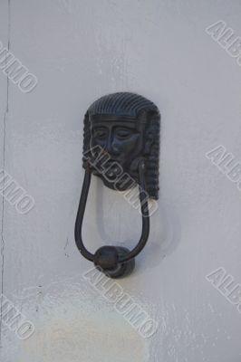 sphinx head old door knocker