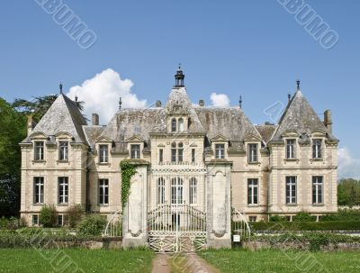 Classic french castle in Loire valley