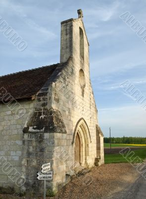 Old medieval church in french province manor
