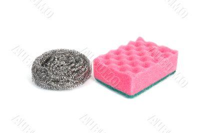 Images of kitchen sponges.