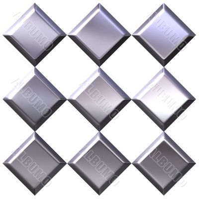 3D Silver Diamonds