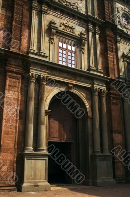 Romantic ancient building made of the red bricks
