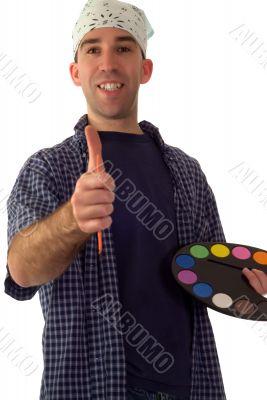 Smiling Painter