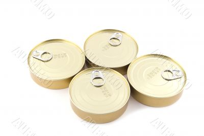 Tin with canned food