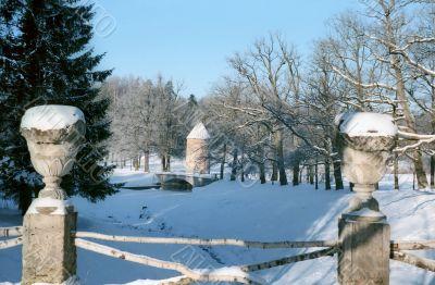 Decor of winter park