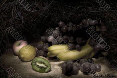 fruit,lemon,grape,aplle,k iwi,banana