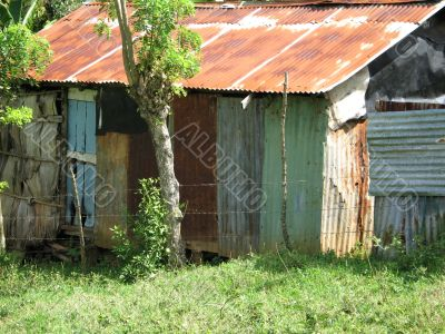 poor country old house