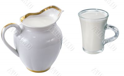 A cup of milk