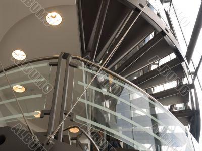 Modern interior of shopping center