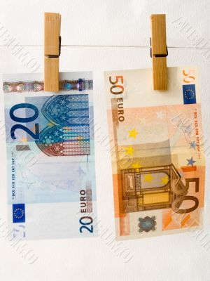 Euro of a banknote