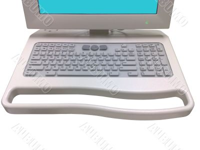 Control terminal keyboard with monitor