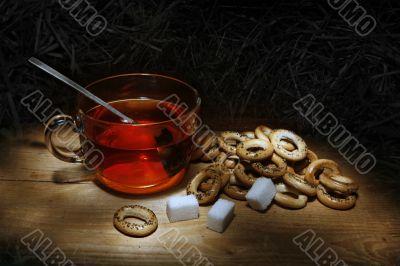 cap,tea,sugar,still-life, creackers