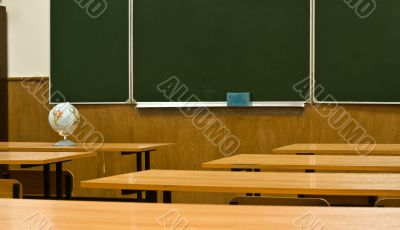 class is at school