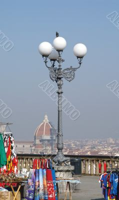 Lamp and Duomo Roof