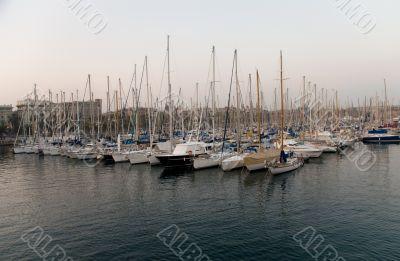 Yachts at harbor