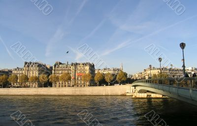 Seine quay in Paris