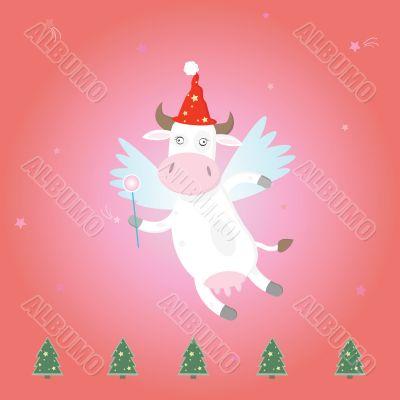 christmas magic funny cow