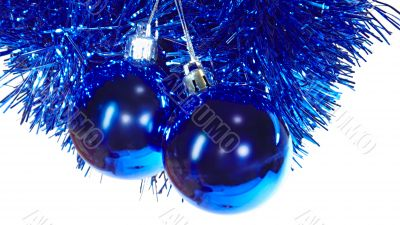 Blue mirror balls - christmas tree decorations