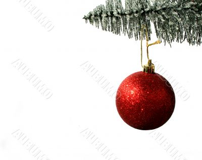 Christmas Ornament and Pine Tree