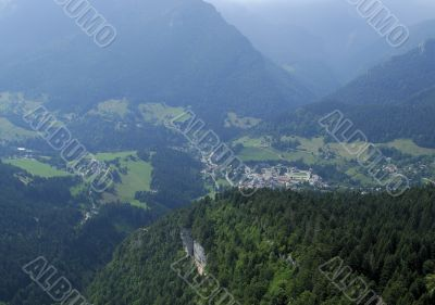 Aerial shot of Chartreuse valley