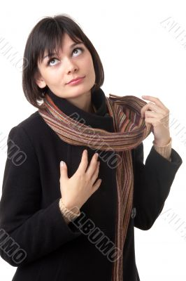 Beautiful young woman with scarf