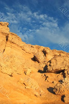 African landscape rock formations in a sand desert 2