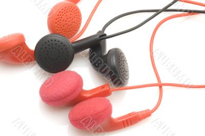 Colored ear phones