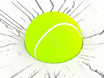 three dimensional tennis ball