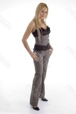 full body of attractive female