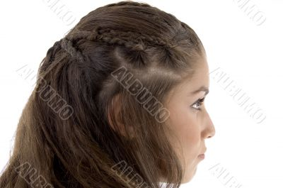 young female posing with stylist hairstyle