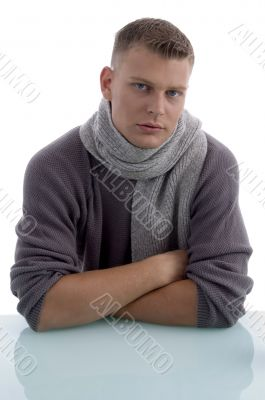 portrait of handsome man with crossed arms