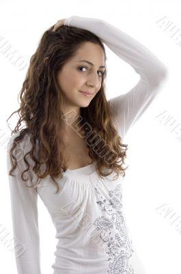 beautiful young fashionable girl posing