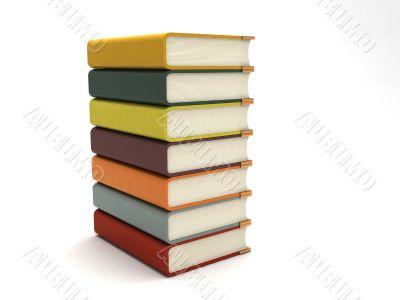three dimensional bundle of books