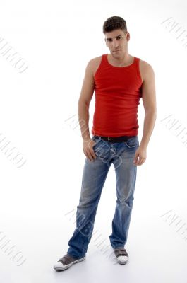 handsome male model posing