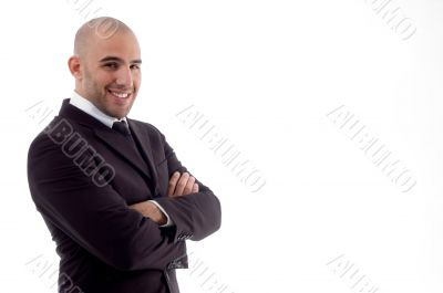 portrait of cheerful accountant